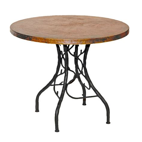 Metal Bistro Table Pictured Here Is The South Fork Bistro Table With 36 Quot Copper Top Crafted By Skilled