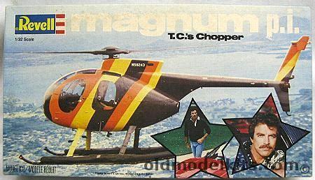 revell 1/32 magnum p.i. t.c.'s chopper (hughes 500), 4416