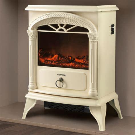 Warmlite 1800W Single Electric Stove Fire   Cream Homeware