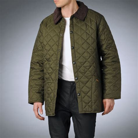 Barbour Quilted Mens Jacket barbour quilted jacket in green for olive lyst