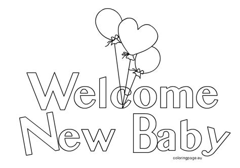 Coloring Pages New Baby | welcome new baby 2 coloring page