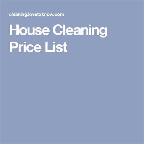 house cleaning prices best 25 house cleaning prices ideas on pinterest