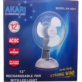 high speed table fan akari rechargeable table fan 12 inches high speed