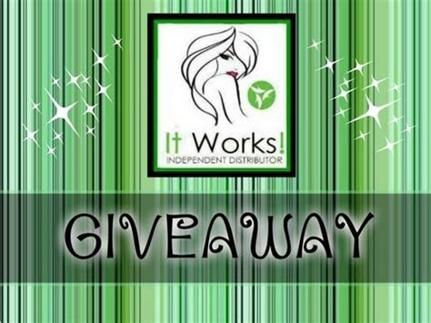 Global Giveaway - it works global giveaway win over 100 in free product youtube