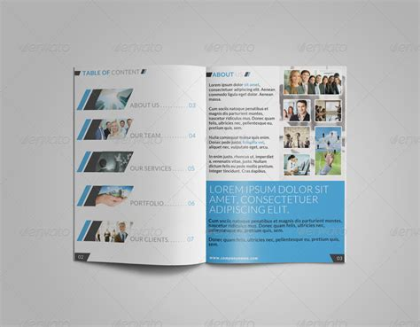 8 page corporate bi fold brochure template 2 by