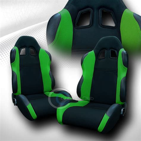green racing seats universal jdm ts blk green cloth car racing seats