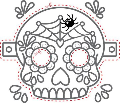 day of the dead masks coloring pages 26 best images about fargelegging on pinterest