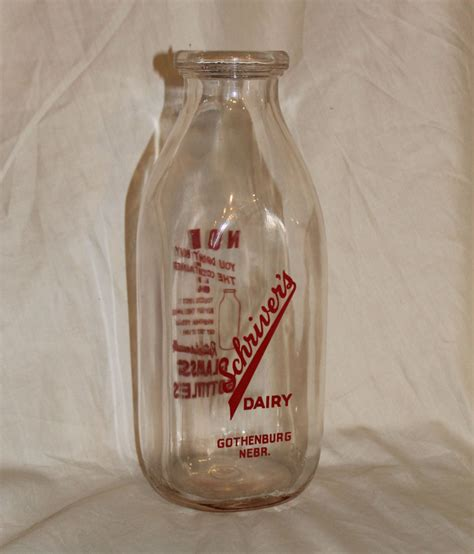 kitchen collectibles bargain s antiques 187 archive milk bottle schriver s dairy gothenburg nebraska glass