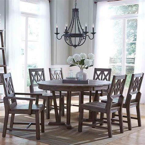kincaid dining room set kincaid furniture foundry seven piece rustic dining set
