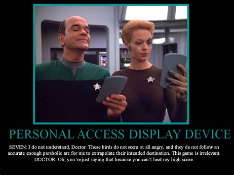 Star Trek Voyager Meme - star trek doctor and seven this is so accurate to their