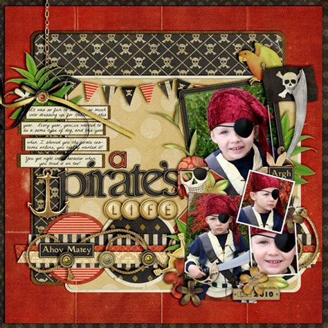 lg s scrapbook world my 2nd double page layout 17 best images about a1 scrapbook pirate layouts on
