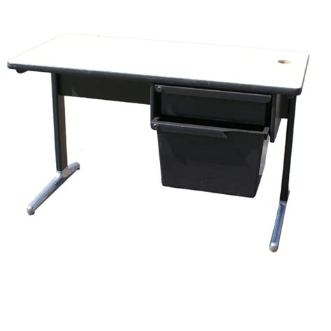 4ft herman miller table desk designed by george nelson