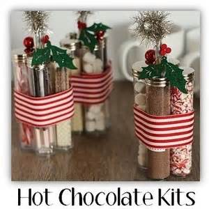 homemade christmas gift idea hot chocolate kits polyvore