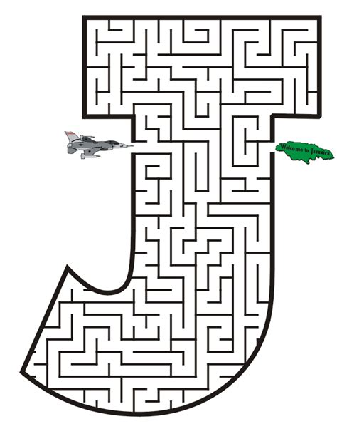 Printable Maze Book | mazes for each letter free printable maze of the letter j