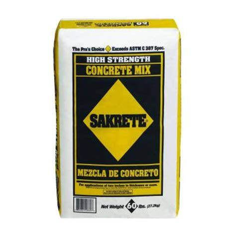 sakrete 60 lb gray concrete mix 65200940 the home depot