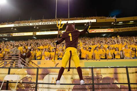asu student section sun devil football triumphs in home opener shutout asu