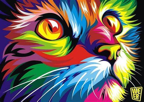imagenes abstractas juveniles coloridas ilustraciones vectoriales de animales por wahyu