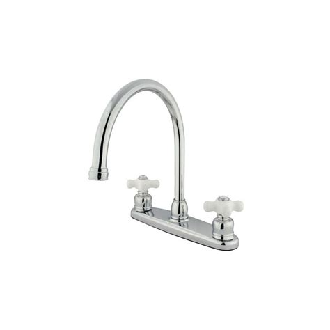 Tall Kitchen Faucet With Spray kingston brass kb721pxls polished chrome vintage centerset
