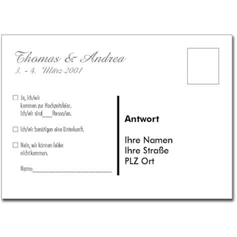 Word Vorlage Postkarte Antwortkarte A0001 Wei 223 Antwortpostkarte