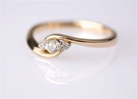 Handcrafted Engagement Ring - quotes by ronald gold like success
