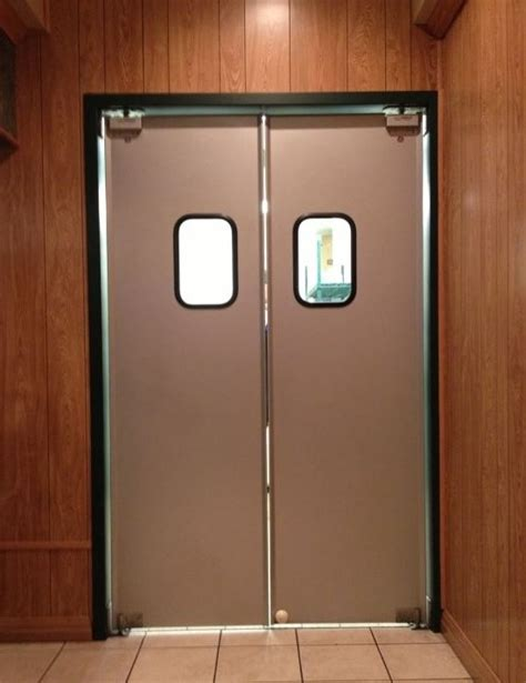 double swinging doors aluminum restaurant doors paylon swinging doors