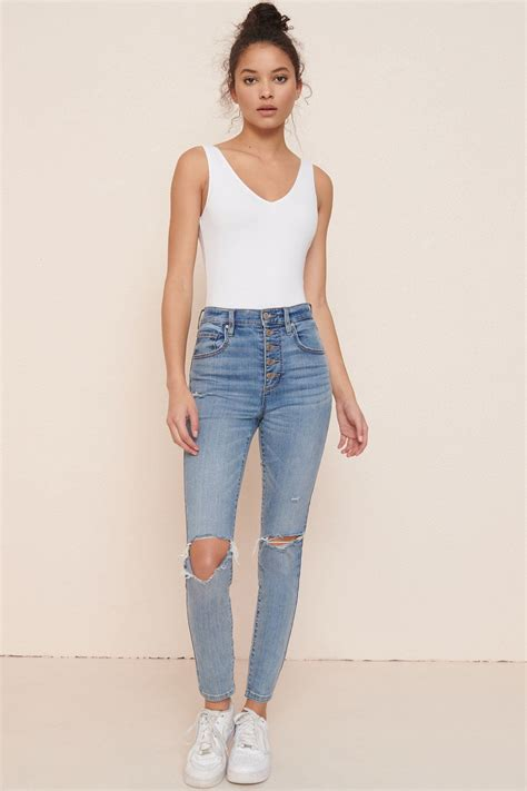 ultra high rise ankle jeggings sea cliff blue
