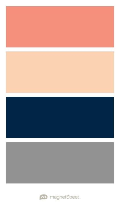 image result  color palette blush navy gray coral thrive wedding colors wedding color