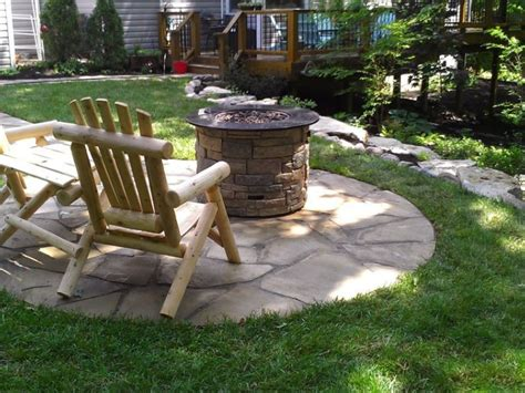 st louis hardscape outdoor firepit and fireplace design in st louis