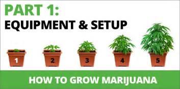 how to grow marijuana step 1 equipment set up