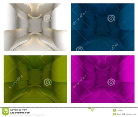 set layout to null set of curve wall royalty free stock images image 31715669