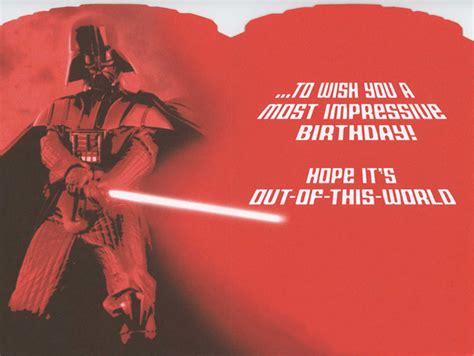 Starwars Birthday Card Star Wars Birthday Cards