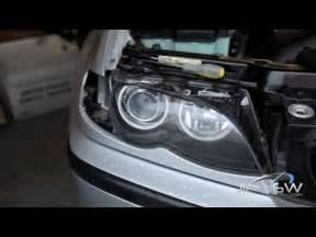 bmw e46 headlight disassembly
