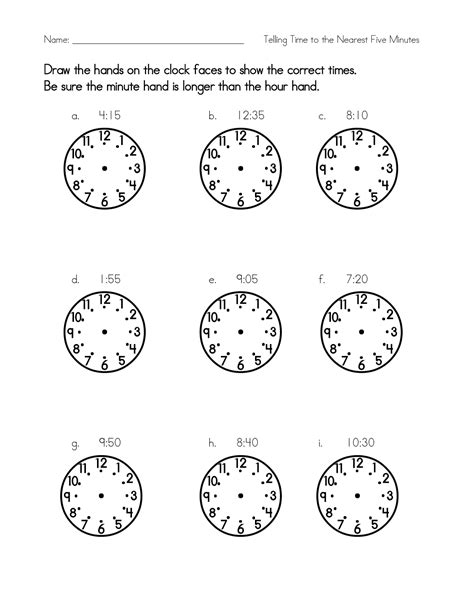 Blank Clock Worksheets by Blank Clock Worksheet