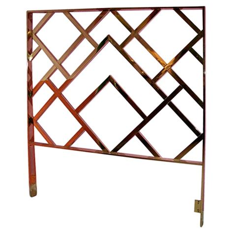 chinese chippendale headboard brass chinese chippendale queen headboard at 1stdibs
