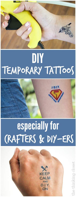 diy temporary tattoos creative business card swag the diy temporary tattoos creative business card swag the
