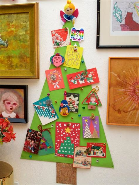 How To Make A Gift Card Tree - how to make a christmas tree corkboard to display greeting cards how tos diy