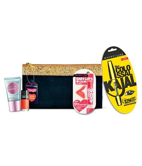 Maybelline Makeup Kit maybelline makeup essentials kit coral with pouch 4 pieces