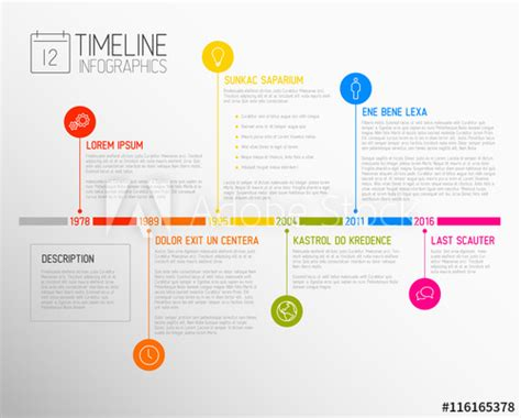 Vector Infographic Timeline Report Template Buy This Stock Vector And Explore Similar Vectors Infographic Template Illustrator