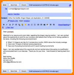 Email Resume Exles by 4 Cover Letter Emails Bid Template