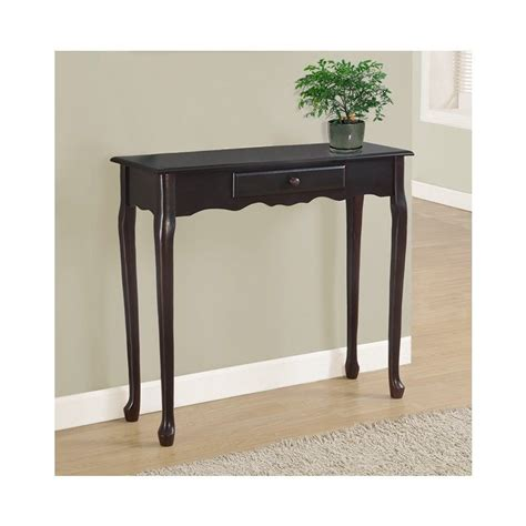 slim accent table 36 quot console accent table in dark cherry i 3109