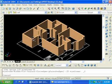 home design 3d export to cad 3d wall in autocad youtube