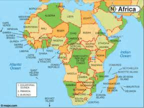 Africa World Map by 7 Continents Of The World And The 5 Oceans List