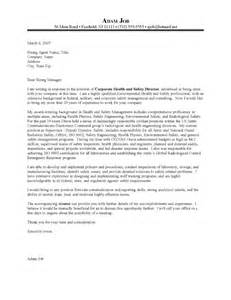 Safety Advisor Cover Letter by Health And Safety Engineer Cover Letter