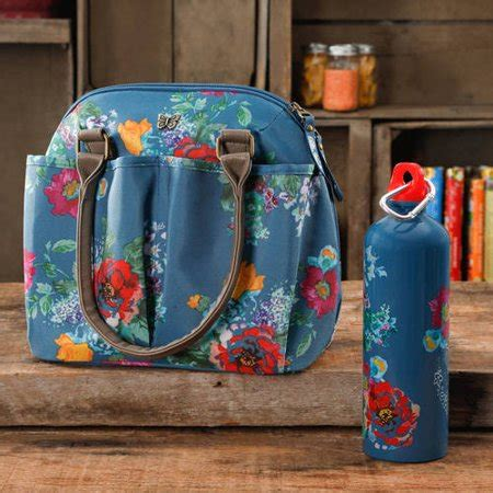 the pioneer woman lunch tote with water bottle, multiple