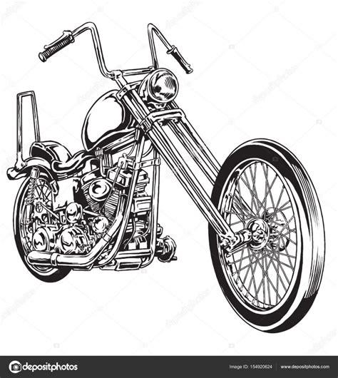 Motorrad Bilder Gezeichnet by Gezeichnet Und Eingef 228 Rbten Vintage American Chopper