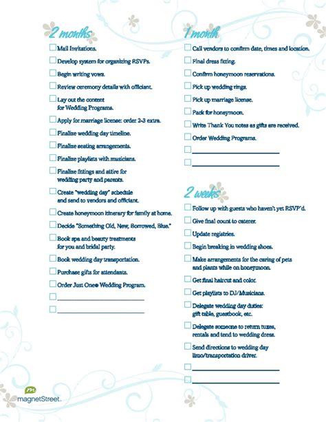 Wedding Planner Email List by Wedding Planning Checklist