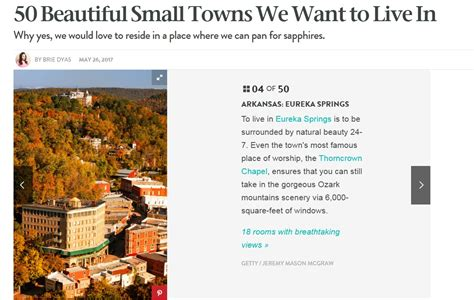 the 50 best small towns to live in america mindbodygreen com eurekasprings page 2 eureka springs city advertising