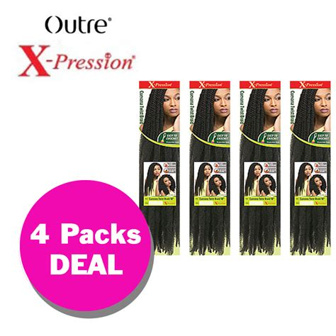 how many packs of xpression hair for small box braids multi pack cuevana twist braid outre x pression