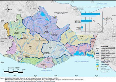 mapa de oaxaca mexico hidrologi keywordtown com