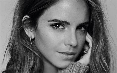 black and white wallpaper of actress 40 emma watson wallpapers high quality resolution download